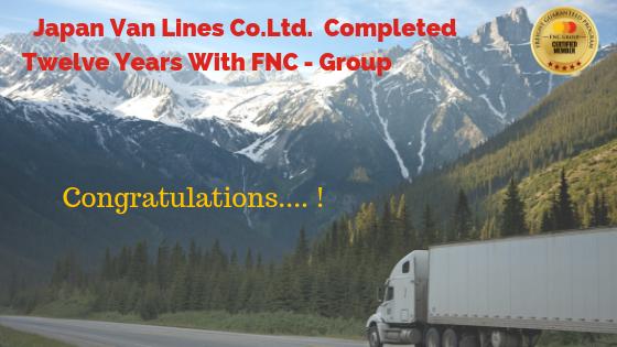 Japan Van Lines Co.Ltd. Completed Twelve Years With FNC-Group…