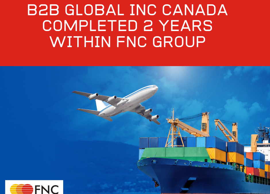 B2B Global Inc Completed Two years with FNC Group…