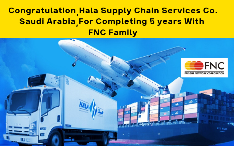 Hala Supply Chain Services Co Completed Five years with FNC Family