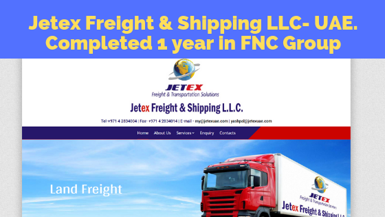 Jetex Freight & Shipping LLC-UAE Completed One Year within FNC Family…