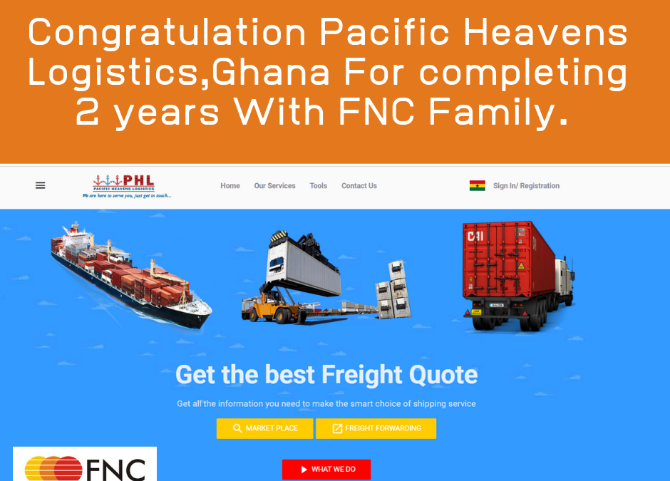 Pacific Heavens Logistics Company completed two years with FNC Group