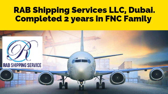RAB Shipping Services LLC Completed two years in FNC Group…