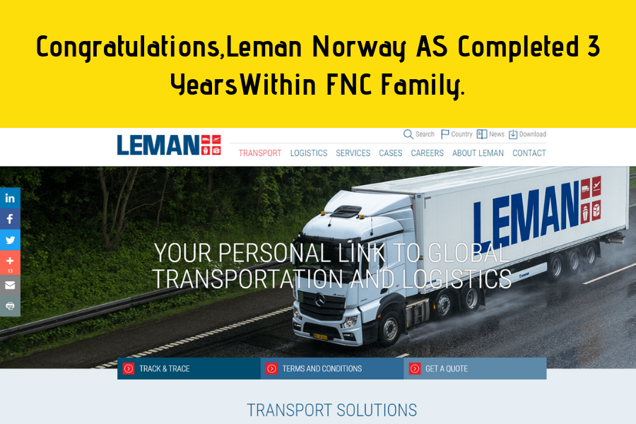Leman Norway AS Completed 3 Years In FNC Group.