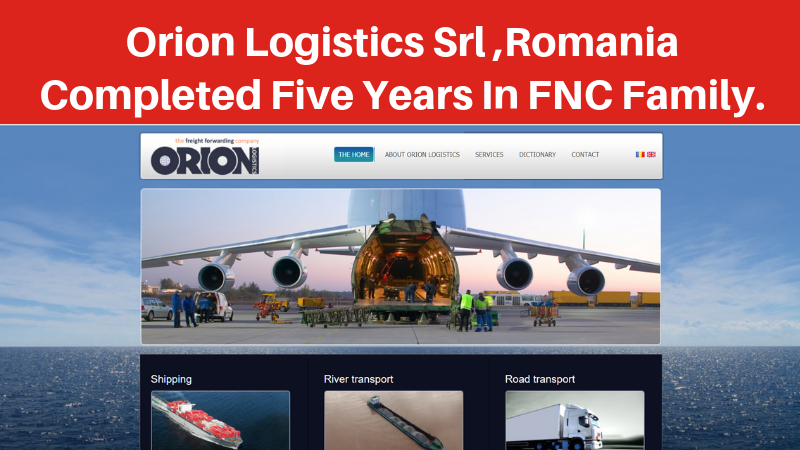 Orion Logistics Srl Completed Five Years within FNC Family…