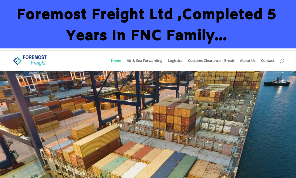 Foremost Freight Ltd completed 5 Years in FNC Group Network.