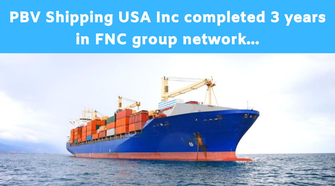 PBV Shipping USA Inc completed 3 years in FNC Group