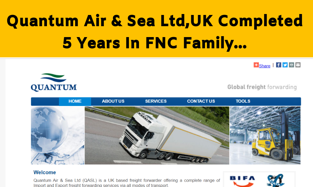 Quantum Air & Sea Ltd Completed 5 Years In FNC Group…