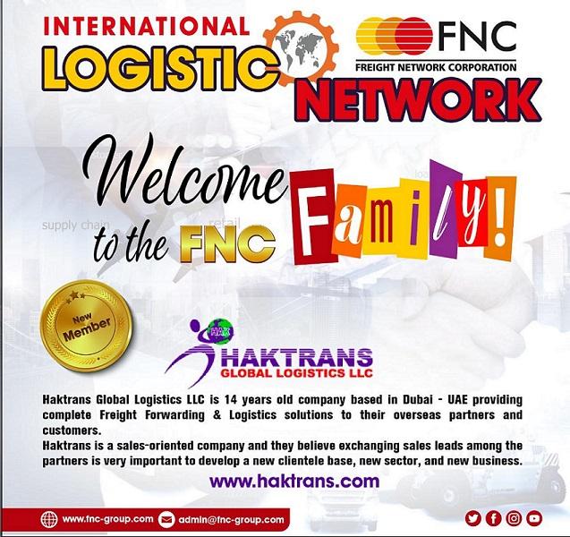 Haktrans Global Logistics LLC joined FNC Group Network.